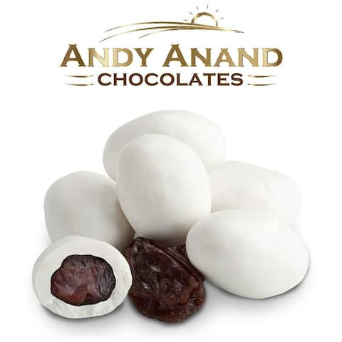 Andy Anand Belgian White Chocolate covered Raisins 1 lbs