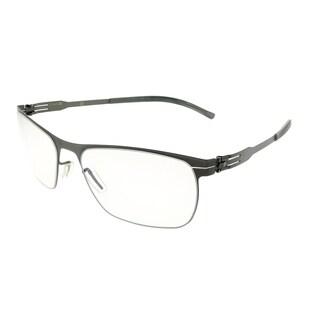 ic! Berlin Rectangle Julius Graphite Unisex Smokey Frame Eyeglasses