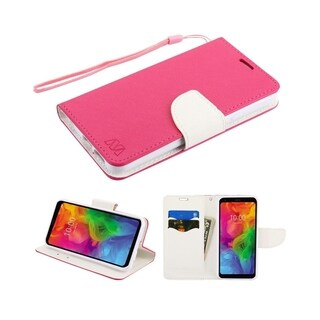 Insten Stand Folio Flip Leather Wallet Flap Pouch Case Cover Compatible With LG Q7/Q7 Plus