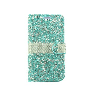 Insten Folio Flip Rhinestone Diamond Bling Leather Wallet Flap Pouch Case for Samsung Galaxy Amp Prime 3/Express Prime 3