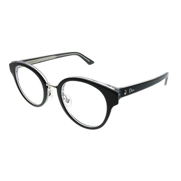 4338d735f7b Shop Dior Round Montaigne 7 G99 Women Black Crystal Frame Eyeglasses ...