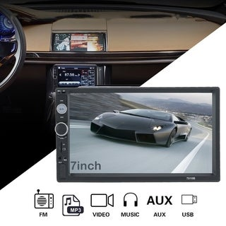 7 Inch HD Large LCD Touch Screen Display Dual Din Bluetooth Car FM/MP5 Player