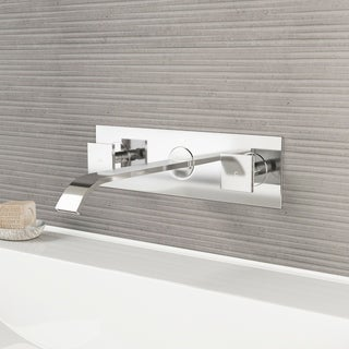 VIGO Titus Chrome Wall Mount Bathroom Faucet