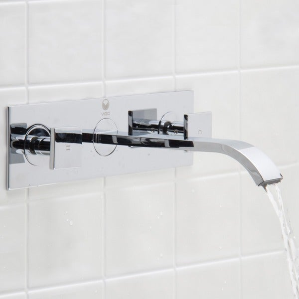 VIGO Titus Bathroom Wall Mount Faucet in Chrome