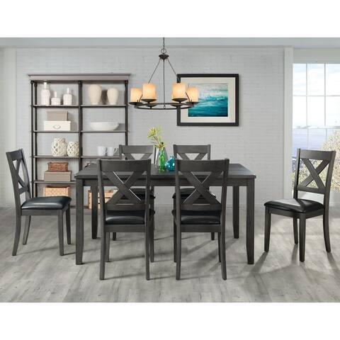 Picket House Alexa Grey X-back 7-piece Dining Set