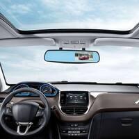 HD 4.3 inch 1080p Dual Lens Car Video Recorder Cam Rearview Mirror DVR Camera