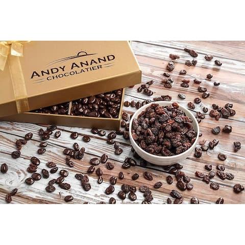 Andy Anand California Dark Chocolate Raisins Christmas Holiday Food Gift Basket (1 lbs)