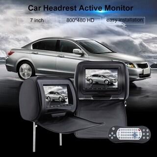 Universal LCD Screen Car Headrest Monitors 2 PCS 7 Inch Car DVD Player