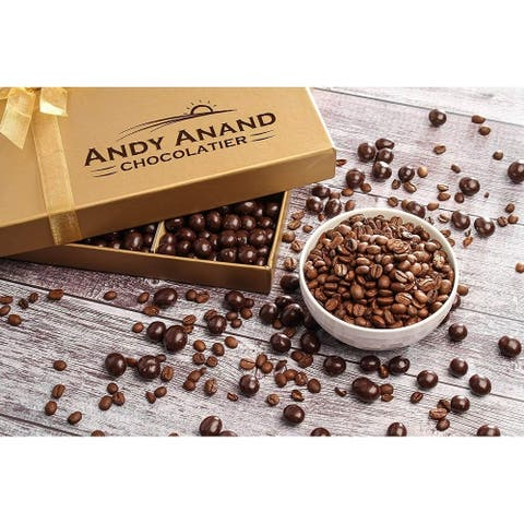 Andy Anand California Dark Chocolate Covered Espresso Coffee Beans 1 lbs Greeting Card