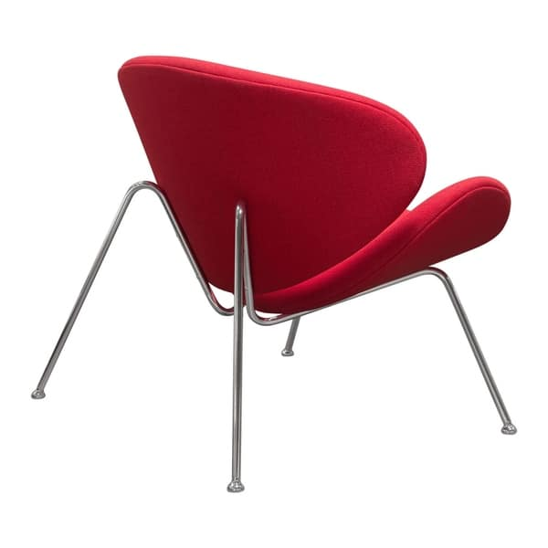 Fantastic Shop Diamond Sofa Roxy Red Accent Chair With Chrome Frame Ibusinesslaw Wood Chair Design Ideas Ibusinesslaworg