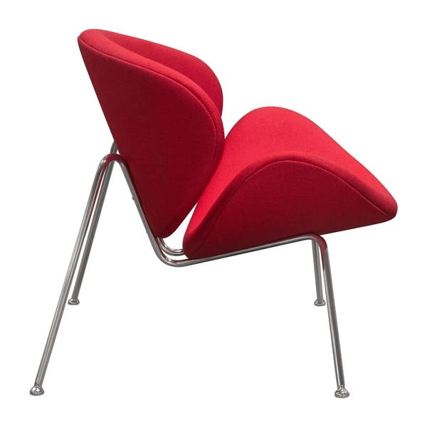 Fine Shop Diamond Sofa Roxy Red Accent Chair With Chrome Frame Ibusinesslaw Wood Chair Design Ideas Ibusinesslaworg