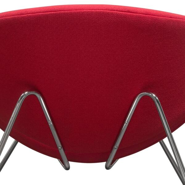 Fabulous Shop Diamond Sofa Roxy Red Accent Chair With Chrome Frame Ibusinesslaw Wood Chair Design Ideas Ibusinesslaworg