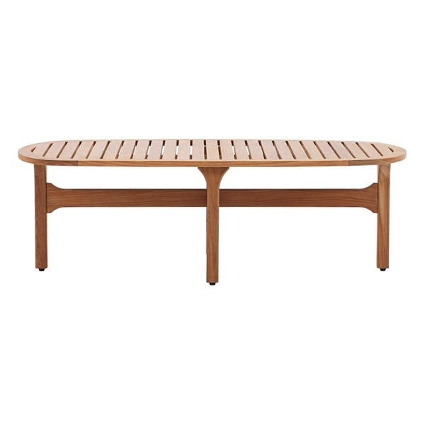 Saratoga Outdoor Patio Premium Grade A Teak Wood Oval