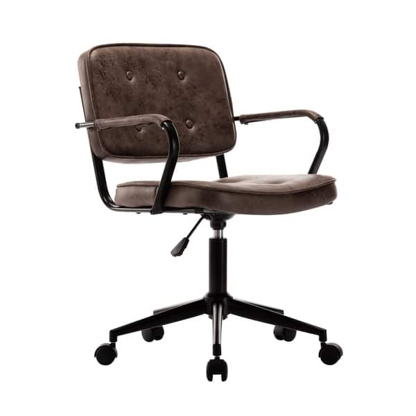 Shop Porthos Home Itzel Office Task Chair Button Tufted Suede Upholstery On Sale Overstock 25542958