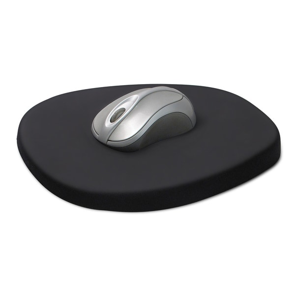 Comfortable Ergonomic Black 8.25-inch Memory Foam and Lycra Mouse Pad