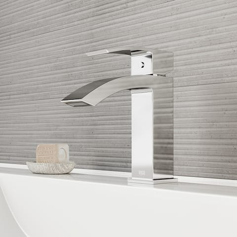 VIGO Satro Chrome Single Hole Bathroom Faucet