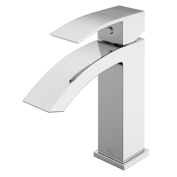 VIGO Satro Single Hole Bathroom Faucet in Chrome