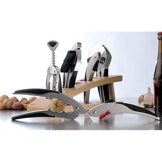 Squalo Zinc Alloy 7-piece Kitchen Gadget Set with Wood Stand