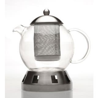 4-piece Glass Teapot w/ Strainer & Warmer|https://ak1.ostkcdn.com/images/products/2554939/P10780433.jpg?impolicy=medium