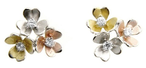 Kate Bissett Cubic Zirconia Flower Bouquet Earrings
