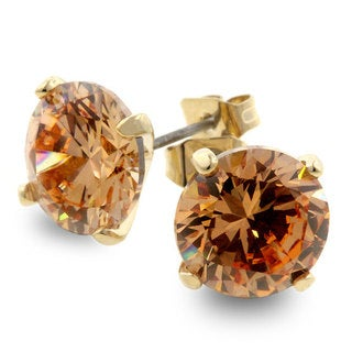 Kate Bissett Champagne CZ Fashion Stud Earrings