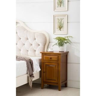Porthos Home Evelynn Solid Wood Nightstand/Wood End Table, Solid Wood