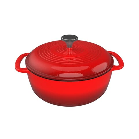 Cast Iron Dutch Oven with Enamel Coated Pot for Oven or Stovetop