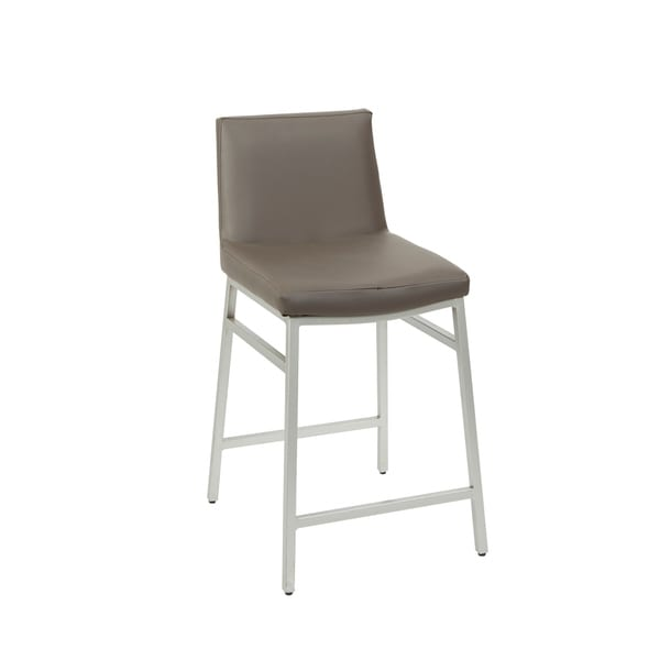 Shop Norton Grey Faux Leather Upholstered Bar Stool Free