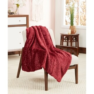 Posh Home 3D Ogee Throw Blanket w/ Soft Sherpa Reverse