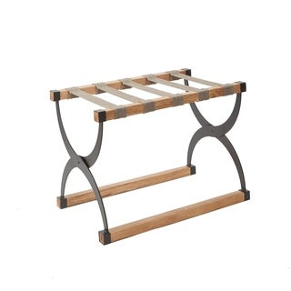 Cooper Mixed Material Luggage Rack with Contour Legs