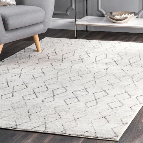 Carson Carrington Carrowdore Beige Geometric Moroccan Fancy Area Rug