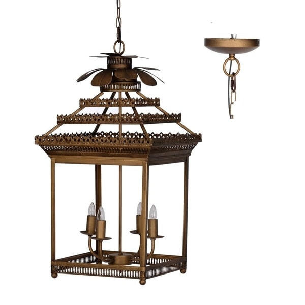 Shop Antique Brass Iron 4-light Classic Vintage Chandelier - On Sale - Free  Shipping Today - Overstock.com - 25555974 - Shop Antique Brass Iron 4-light Classic Vintage Chandelier - On Sale