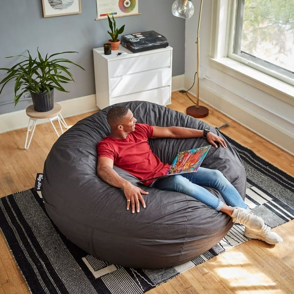 Fantastic Shop Big Joe Super Fuf Bean Bag Chair Removable Cover On Pdpeps Interior Chair Design Pdpepsorg