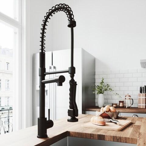 VIGO Zurich Matte Black Pull-down Spray Kitchen Faucet