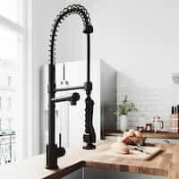 VIGO Zurich Single-Handle Pull-Down Sprayer Kitchen Faucet