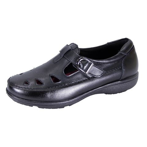 24 HOUR COMFORT Annette Women Extra Wide Width Casual Leather Loafer