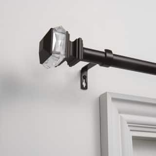 Silver Orchid Hamilton 1-inch Curtain Rod and Finial Set
