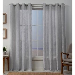 ATI Home Sena Two Way Slub Yarn Sheer Grommet Top Curtain Panel Pair