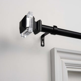 """ATI Home Prism 1"""" Curtain Rod and Finial Set"""