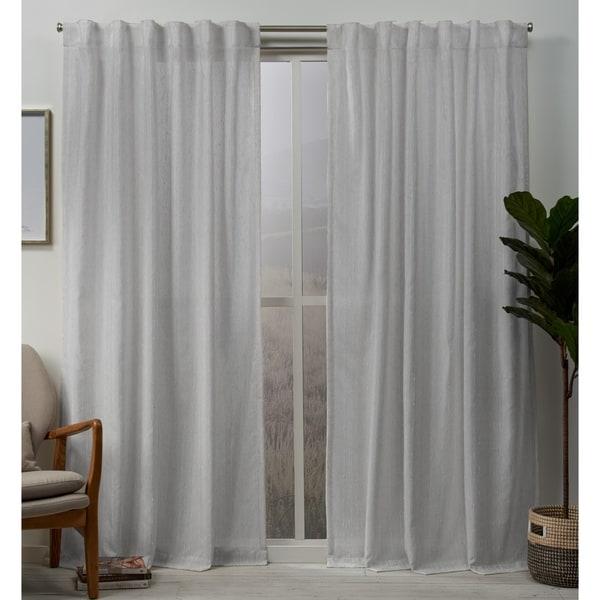 ATI Home Muskoka Slub Embellished Hidden Tab Top Curtain Panel Pair