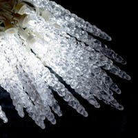 ALEKO Holiday Christmas Crystal Cluster Icicle Drip  50 LED Lights 25 ft Clear