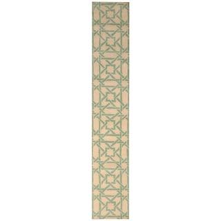Handmade Tibetan Wool Rug (India) - 2'1 x 13'