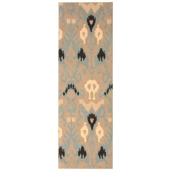 Handmade Mahi Tabriz Wool Rug (India) - 6'7 x 9'7
