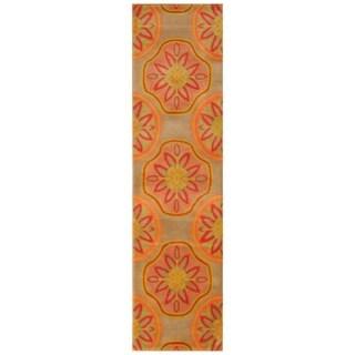 Handmade Tibetan Wool Rug (India) - 2'4 x 9'