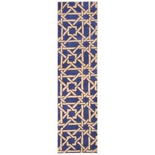 Handmade Tibetan Wool Rug (India) - 2'3 x 9'