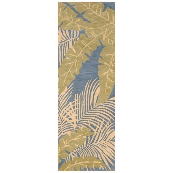 Handmade Tibetan Wool Rug (India) - 3' x 8'1