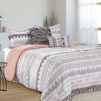 Cairo Aztec Stripe Reversible 5 Piece Comforter Set