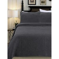 Stonewash Series Triangle Cotton Shell Quilt Set