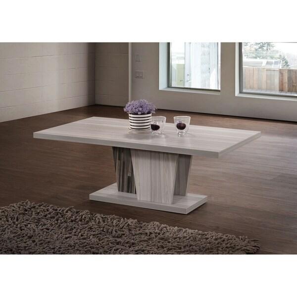 Indoor Grey Wooden Modern Rustic 43-in Rectangular Coffee Table