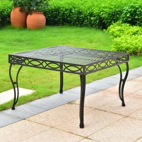 International Caravan Segovia 30-inch Iron Coffee Table